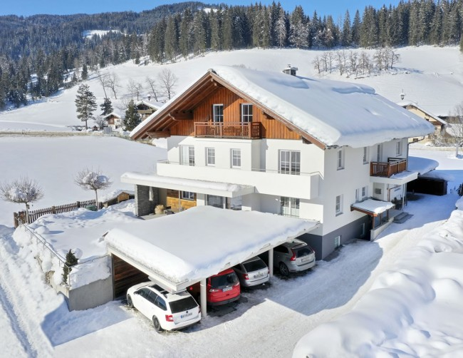 Appartementhaus Sonnrain im Winter